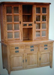 Solid Rustic Oak Dining Dresser cabinet for sale in Surbiton